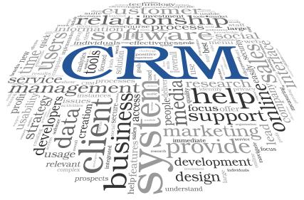 CRM in word tag cloud